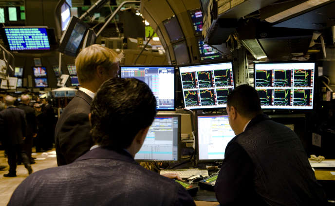 Des traders à la bourse de New York, le 15 septembre 2008, jour de la faillite de Lehman Brothers.