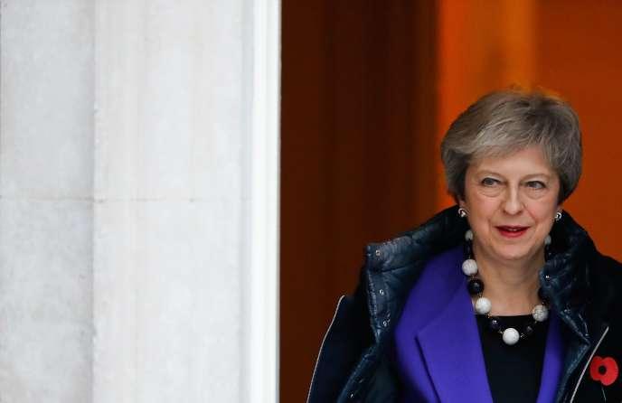 Theresa May le 31 octobre au 10 Downing Street de Londres.