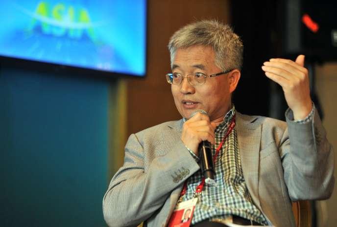 L'économiste chinois Zhang Weiying, lors du Forum Boao pour l'Asie, àBoao, dans la province de Hainan (sud de la Chine), en mars 2015.