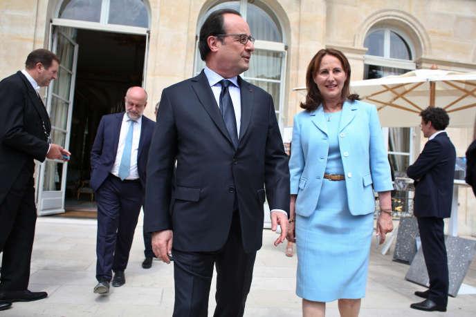 Ségolène Royal et François Hollande, à l'Elysée, en juillet 2016.