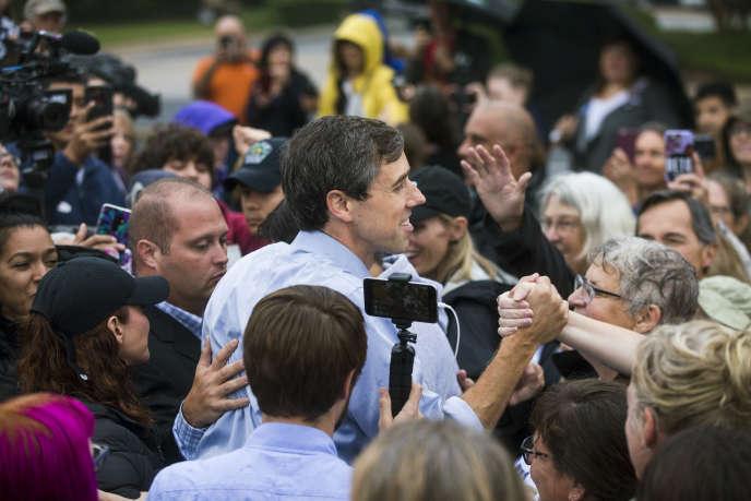 Le démocrate Beto O'Rourke, candidat au Sénat, le 24 octobre, à Austin, au Texas.