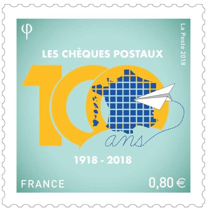 Vente générale, le 2 novembre, pour ce timbre tiré à 900000 exemplaires, où l'on retrouve les couleurs jaune et bleu emblématiques de La Poste.