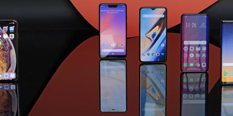 meilleur smartphone XL comparatif grand écran iPhone Xs Max Google Pixel 3 Oneplus 6T Oppo Find X Samsung Note 9