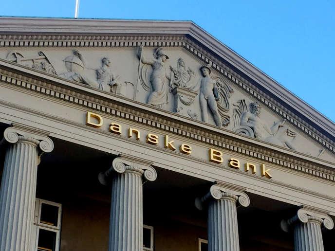 Vue de la Danske Bank à Copenhague au Danemark en septembre.