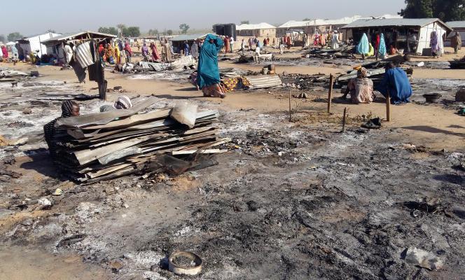 Un camp de personnes déplacées après une attaque perpétrée par des membres présumés de Boko Haram à Dalori, dans le nord-est du Nigeria, le 1er novembre 2018.