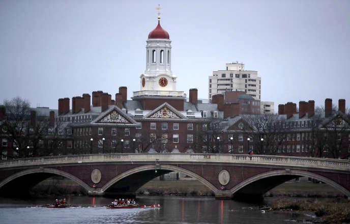 Vue du campus de l'université Harvard, à Cambridge, dans le Massachusetts en mars 2017.