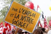 Manifestation contre l'austérité en avril 2014, à Paris.