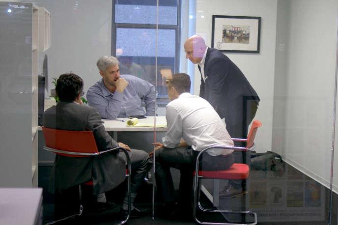 Une réunion de journalistes (Adam Goldman, Matt Apuzzo, Mark Mazzetti et Matthew Rosenberg) au «New York Times» en 2018.