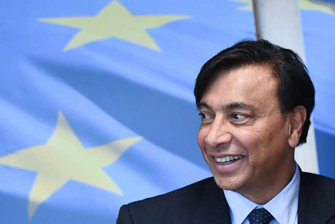 Le PDG d'ArcelorMittal, Lakshmi Mittal à la Commission européenne à Bruxelles, le 6 mars 2018.