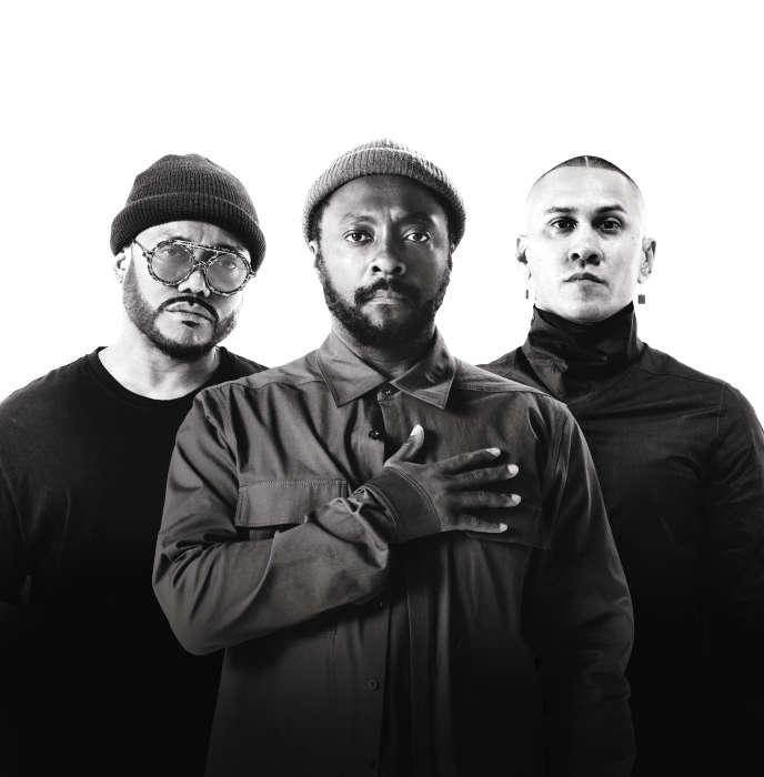 Le groupe Black Eyed Peas, avec Apl.de.ap, Will.i.am et Taboo, à Los Angeles, en juin 2018.