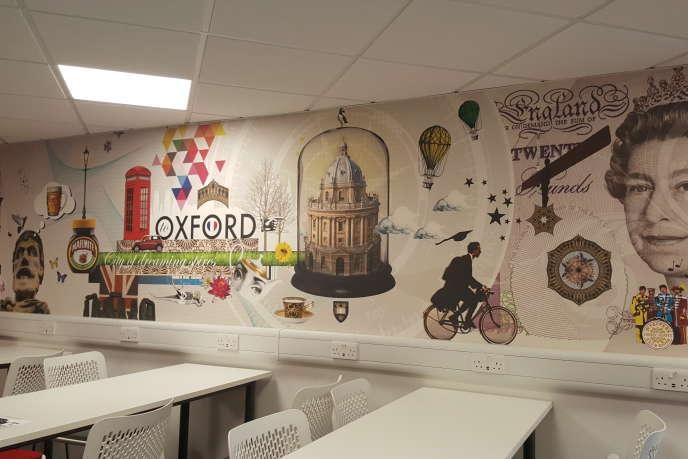 Une salle de classe du campus oxfordien de l'EM Normandie.