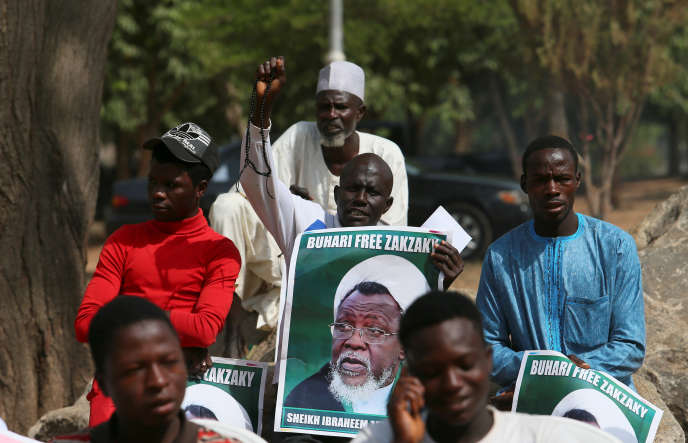 Des membres du Mouvement islamique du Nigeria manifestent pour la libération de leur leader, Ibrahim Zakzaky, en janvier 2018, à Abuja.