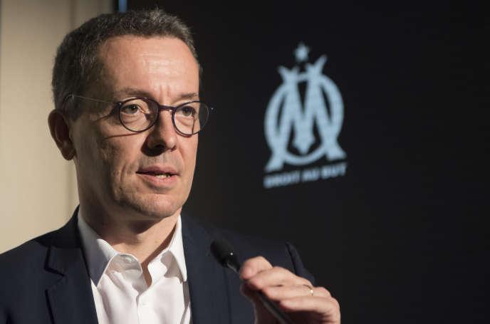 Le président de l'OM, Jacques-Henri Eyraud, le 23 mai à Marseille.