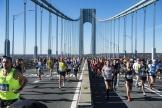 Des marathoniens engagés dans la course à New York, le 4 novembre 2018.