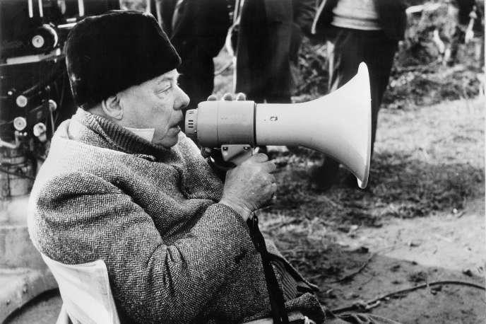 Jean Renoir à Paris en 1962, sur le tournage de son dernier film,«Le Caporal épinglé».