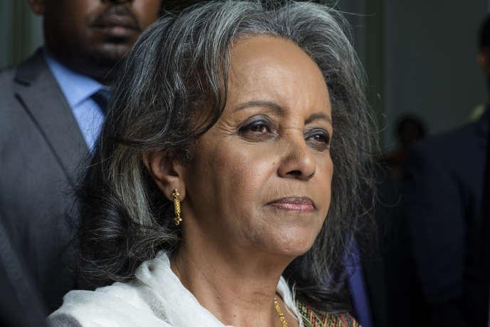 La présidente éthiopienne, Sahle-Work Zewde, à sa sortie du Parlement, à Addis-Abeba, le 25 octobre 2018.