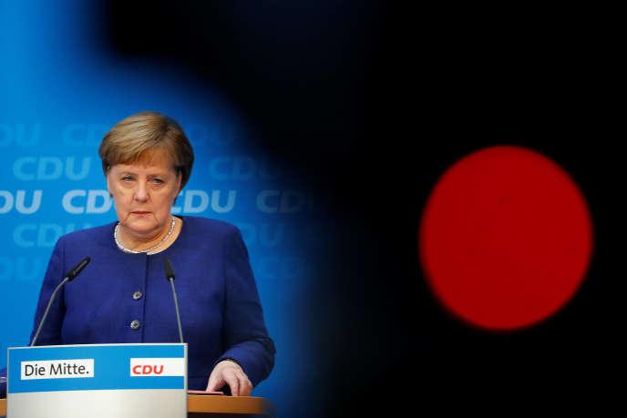 Angela Merkel, à Berlin, le 5 novembre.