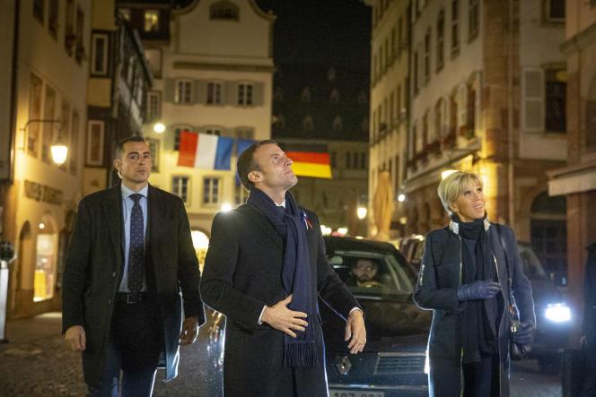 Emmanuel et Brigitte Macron, à Strasbourg, le 4 novembre.