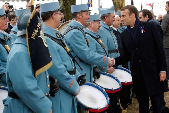 Emmanuel Macron au Mémorial de la guerre de Morhange (Moselle), lundi 5 novembre 2018.