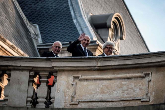 L'ancien ministre de l'intérieur Gérard Collomb a été réélu maire de Lyon, lundi5novembre2018.