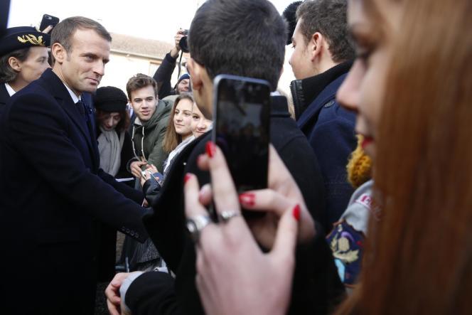 Emmanuel Macron, aux Eparges (Meuse), le 6 novembre.