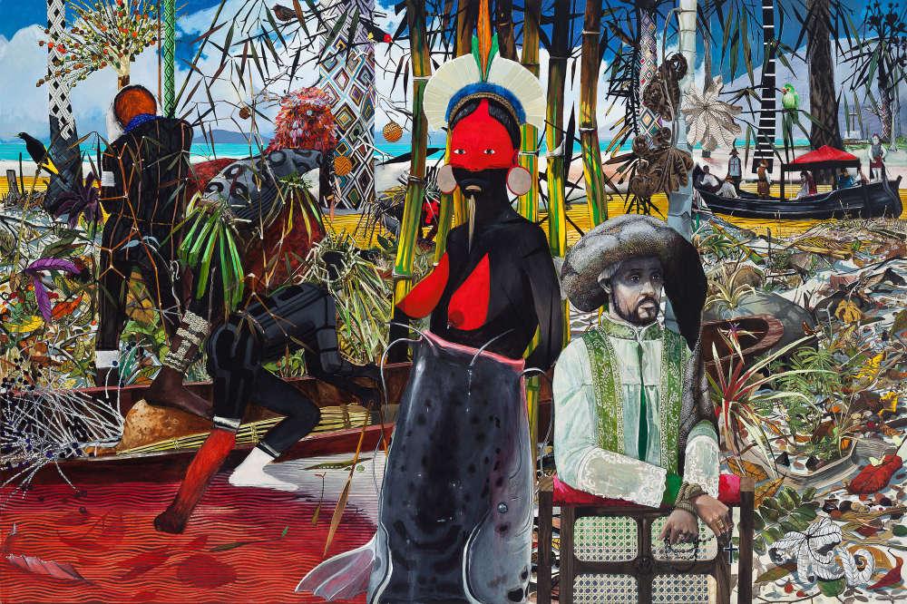 Luiz Zerbini : « A Primeira Missa », 2014, acrylique sur toile