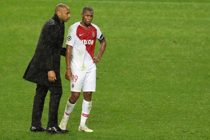 Thierry Henry et Djibril Sidibé, après la défaite, le 6 novembre à Monaco.