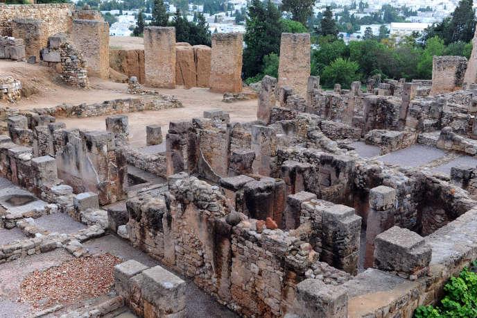 Ruines à Byrsa, la colline où se trouvait la citadelle de la Carthage punique, photographiées en 2010.