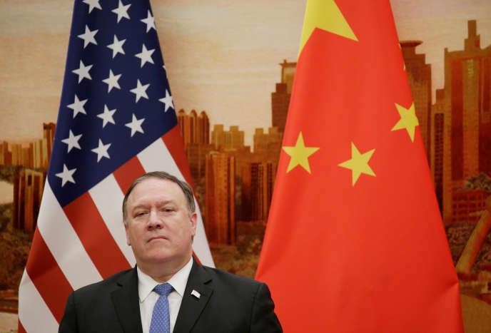 Le secrétaire d'Etat américain Mike Pompeo, à Pékin, le 14 juin.