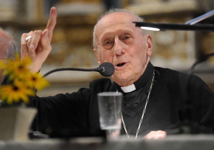 Le cardinal Roger Etchegaray à Espelette (Pyrénées-Atlantiques), le 26 août 2014.