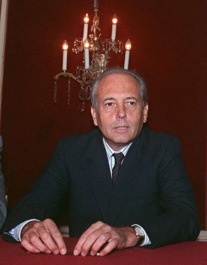 Alain Chevalier, à Paris, le 22 septembre 1988.