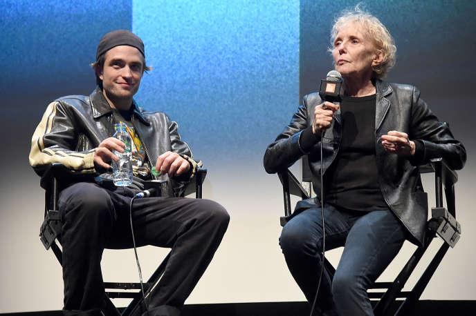 L'acteur Robert Pattinson et la réalisatrice Claire Denis lors de la présentation de «High Life» au Festival du film de New York, le 2 octobre 2018.