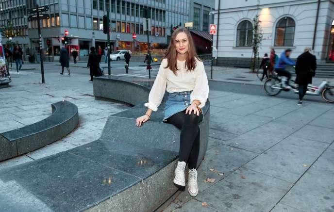 Ina Libak, rescapée de la tuerie d'Utoya (Norvège) du22 juillet 2011, ici à Oslo, le 19 octobre.