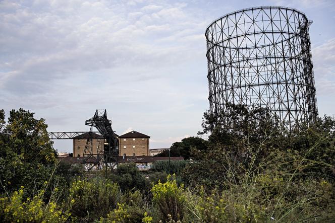 L'ancienne réserve de gaz des années 1930, à Rome.