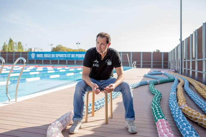 Fabrice Pellerin, le 19 octobre, au bassin olympique Camille-Muffat.