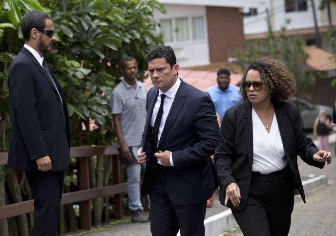 Le juge Sergio Moro après une entrevue avec Jair Bolsonaro, à Rio, le 1er novembre.