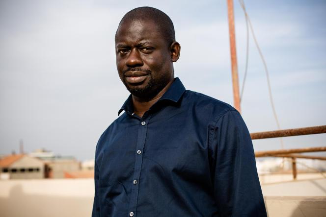 L'intellectuel sénégalais Felwine Sarr, chez lui, à Dakar, en 2017.