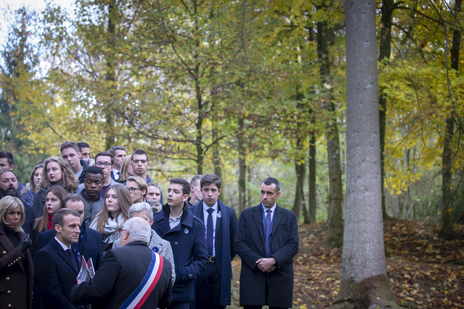 Visite du village détruit de Fleury-devant-Douaumont avec des élèves des lycées de Verdun.