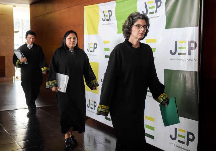 Julieta Lemaitre, une des magistrates de la Juridiction spéciale pour la paix, le 13 juillet à Bogota.