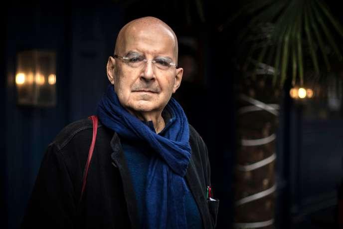 Pierre Guyotat, lauréat du prix Médicis 2018 pour son livre « Idiotie», à Paris, le 6 novembre.