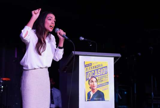 Alexandria Ocasio-Cortez, le 6 novembre 2018.