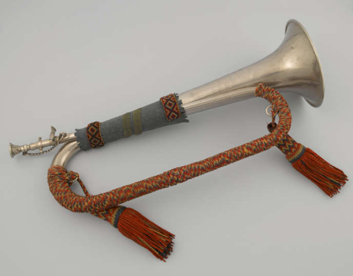 Le clairon dupoilu Pierre Sellier qui, officiellement, sonna le premier cessez-le-feu, à La Flamengrie, le 7novembre 1918.