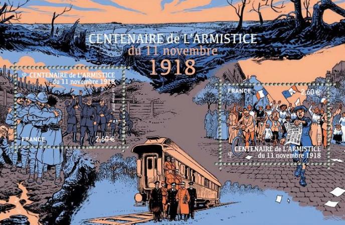 Centenaire de l'armistice, par Damien Cuvillier. Tirage : 370000 exemplaires.