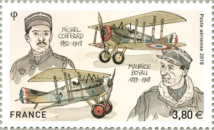 Michel Coiffard et Maurice Boyau, dessiné par l'auteur de BD Maël, gravé par André Lavergne. Tirage : 500000 exemplaires et 35000 feuillets de dix.