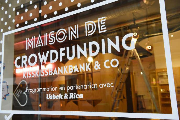 Le siège de Kisskissbangbang, plate-forme de crowdfunding, à Paris, en novembre 2016.