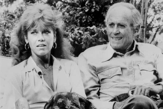 Jane Fonda et son père Henry à Los Angeles,en 1979.