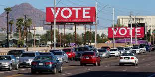 Billboards encouraging people to vote are seen following the U.S. Midterm elections in Phoenix, Arizona, U.S. November 7, 2018. REUTERS/Elijah Nouvelage