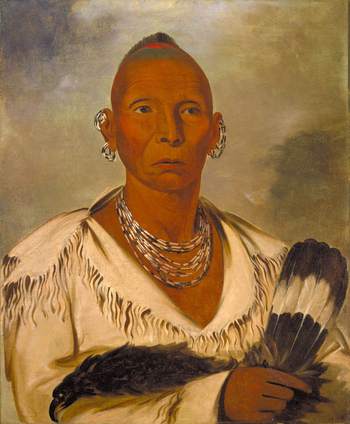 Portrait de Black Hawk (1767-1838), chef des Sauk.