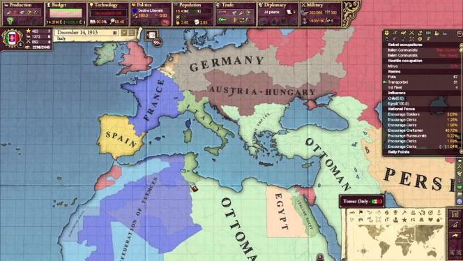 Dans la veine des jeux de grande stratégie, «Victoria II» vous place face à une carte du monde.