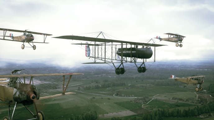 Une escadrille d'avions Farman.